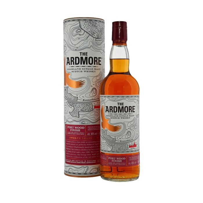 Ardmore 12 Year Old Port Wood Finish with box