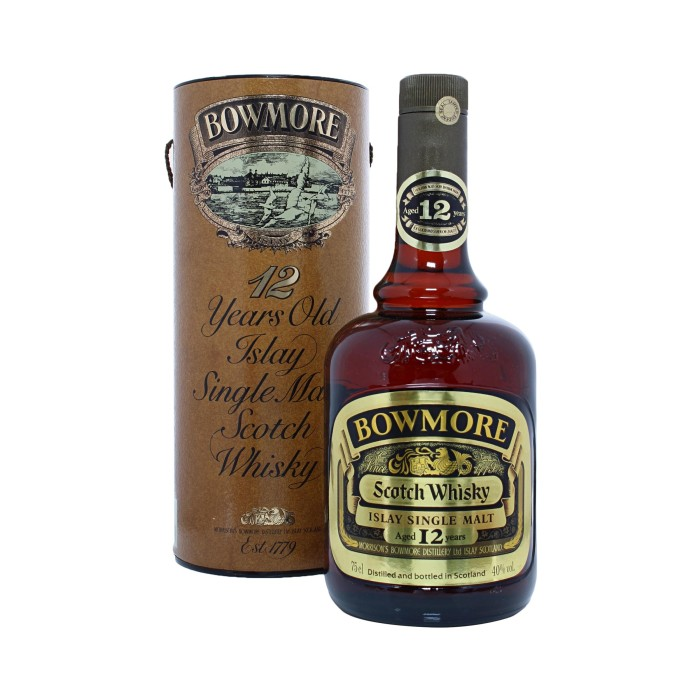 Bowmore 12 Year Old (1980s) with box
