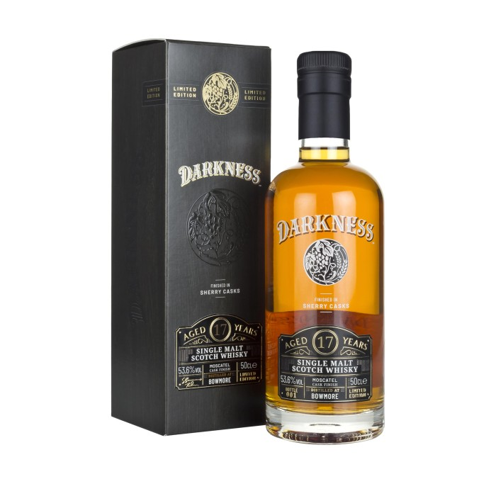 Darkness Bowmore 17 Year Old Moscatel Cask Finish