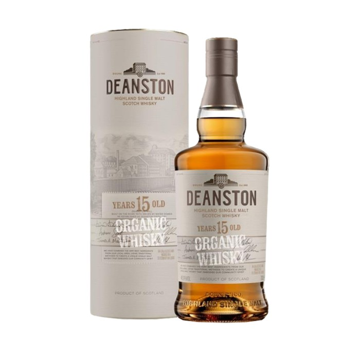 Deanston 15 Year Old Organic with box