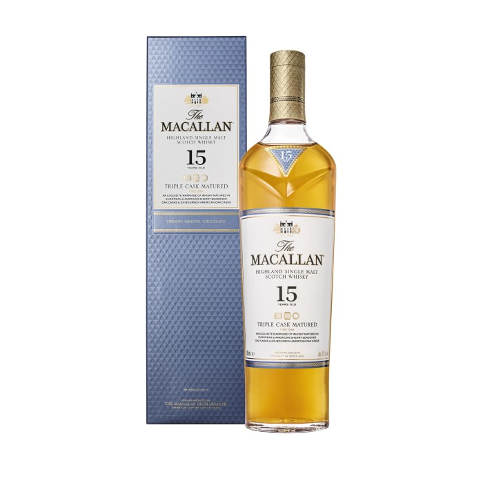 Macallan 15 Year Old Triple Cask with box
