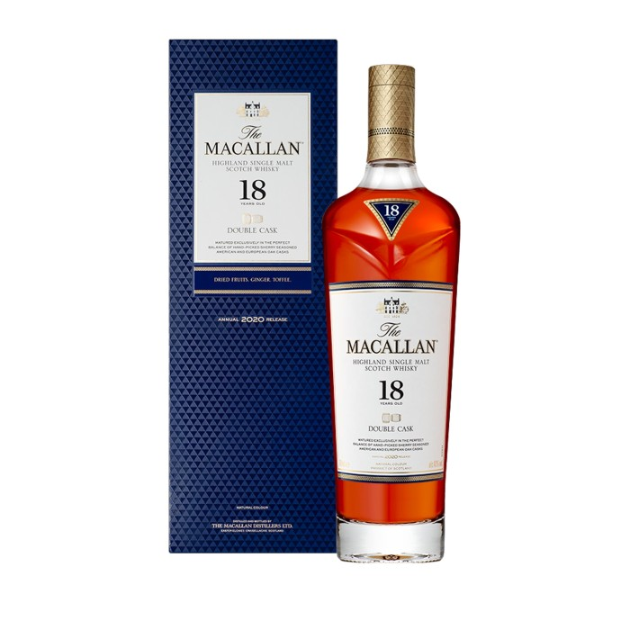 Macallan 18 Year Old Double Cask with box