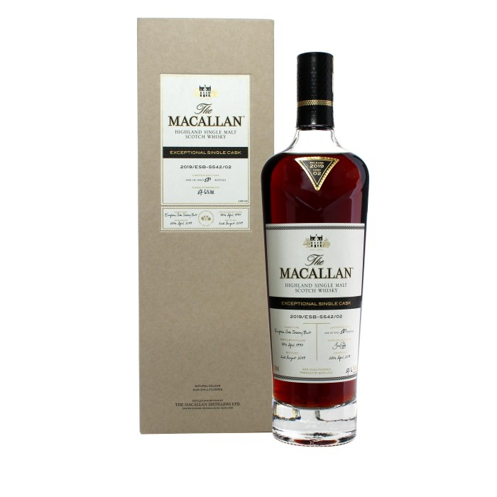 Macallan Exceptional Single Cask 2019/ESB-5542/02 with box