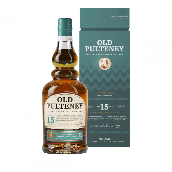 Old Pulteney 15 Year Old with box