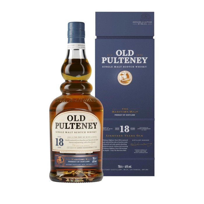 Old Pulteney 18 Year Old with box
