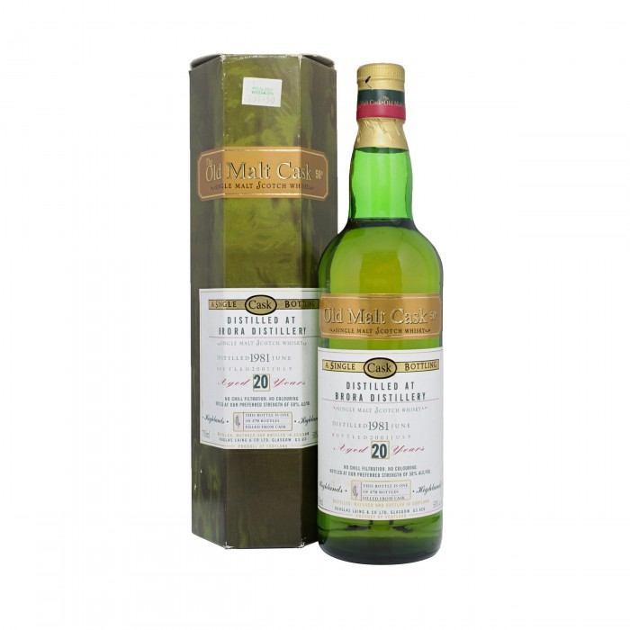 Old Malt Cask Brora 20 Year Old with box