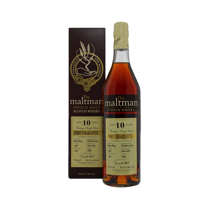 Port Charlotte 10 Year Old The Maltman with box