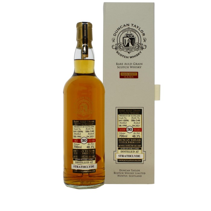 Rare Auld Grain Strathclyde Sherry Cask 1990 30 Year Old