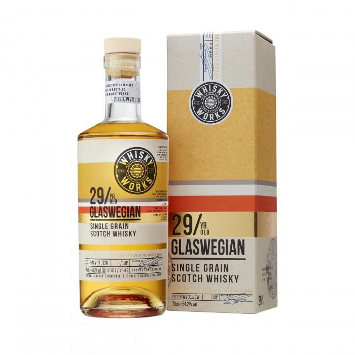 Whisky Works Glaswegian 29 Year Old with box