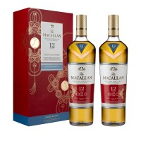 Macallan 12 Year Old Triple Cask Chinese New Year Twin Pack with box