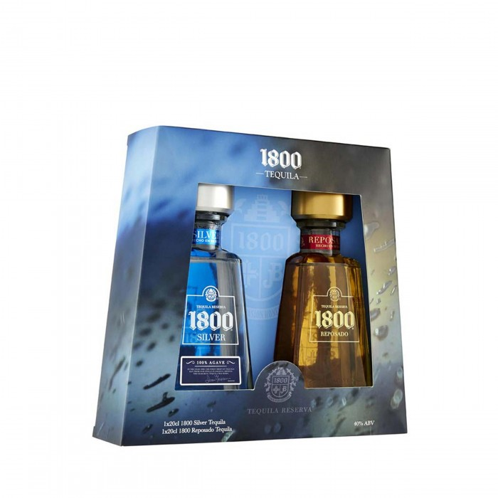 1800 Silver and Reposado Tequila 2 x 20cl