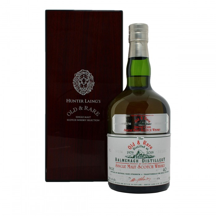 Balmenach 40 Year Old Platinum Old & Rare with case