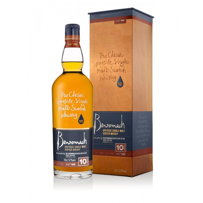 Benromach 10 Year Old 100° Proof with box
