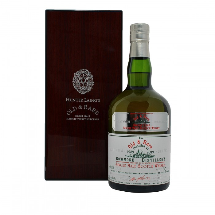 Bowmore 30 Year Old Platinum Old & Rare with case