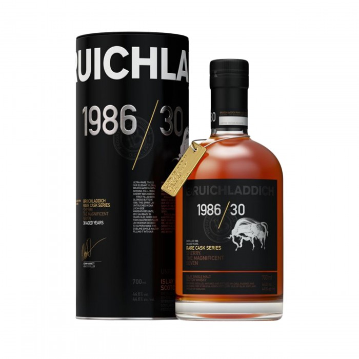 Bruichladdich 1986 30 Year Old with box