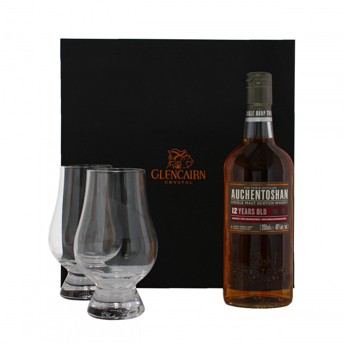 Glencairn Whisky Glasses & Auchentoshan 20cl Gift Set