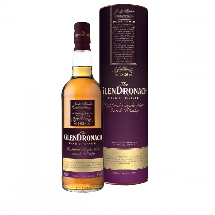 GlenDronach Port Wood 10 Year Old with box