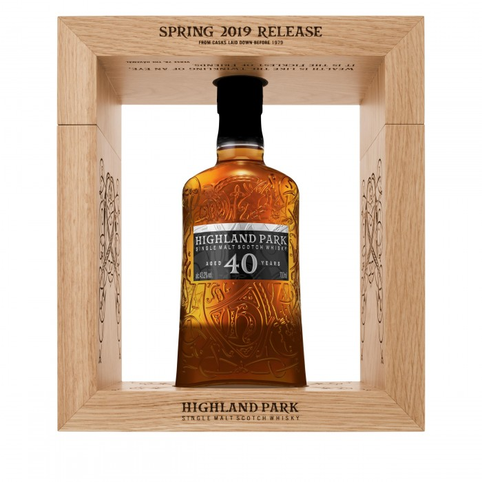Highland Park 40 Year Old 2019 Release in case