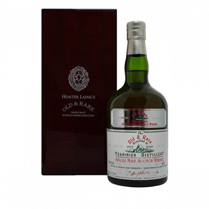Teaninich 43 Year Old Platinum Old & Rare with case