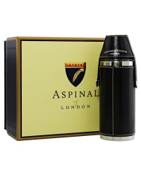 Aspinal Leather Hunter Hip Flask 8oz with box